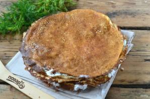 Торт из яичных блинов с куриной начинкой - фото шаг 8