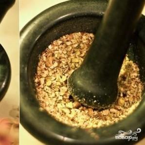 Паста с фисташками и оливками - фото шаг 2