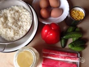 Крабовый салат обычный - фото шаг 4