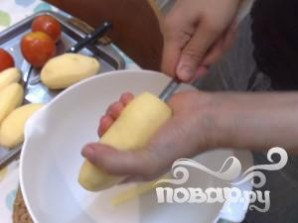 Фаршированные помидоры и картофель - фото шаг 4