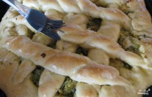 Дрожжевой пирог с капустой - фото шаг 18