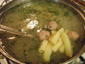 Картофельный суп с фрикадельками - фото шаг 7