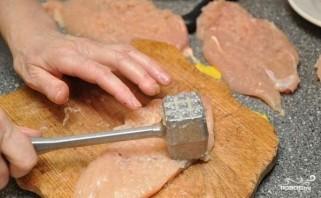 Куриное филе с грибами в духовке - фото шаг 3