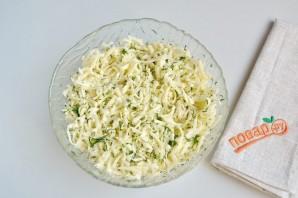 Вкусные кутабы с сыром и зеленью - фото шаг 6