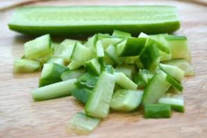 Салат с зелеными яблоками - фото шаг 3
