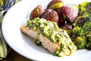 Красная рыба с картошкой в духовке - фото шаг 6