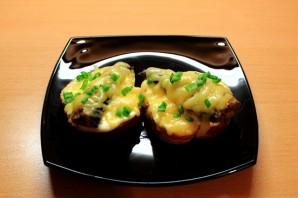 Бутерброды со шпротами в духовке - фото шаг 7