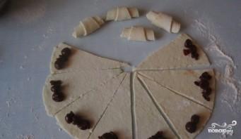 Рогалики из творожного теста с начинкой - фото шаг 6