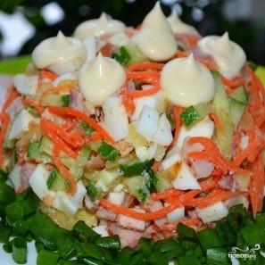 Салат с корейской морковью - фото шаг 6