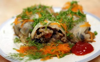Голубцы вегетарианские с грибами - фото шаг 7