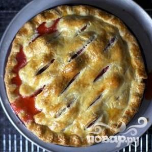Пирог с клубникой и ревенем - фото шаг 4