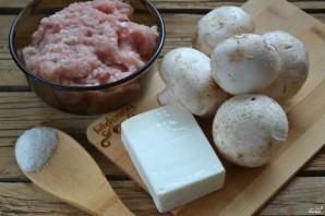 Мясной рулет с грибами и сыром - фото шаг 1