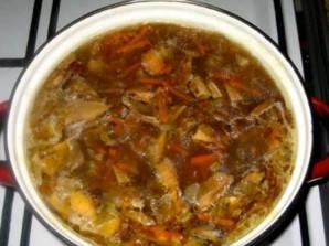 Суп из сухих белых грибов - фото шаг 12