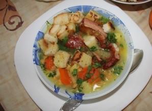 Суп гороховый с копчеными ребрышками - фото шаг 10