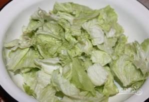 Салат с виноградом и сыром - фото шаг 3