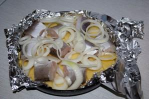 Рыба с картошкой в фольге - фото шаг 4