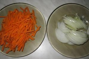 Фунчоза с говядиной и овощами - фото шаг 1
