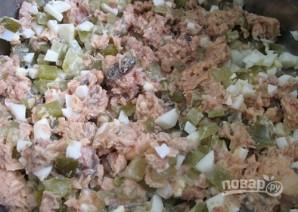 Салат с рисом и солеными огурцами - фото шаг 4