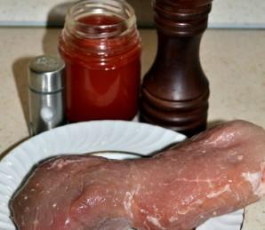 Шашлычки из свинины на шпажках в духовке - фото шаг 1