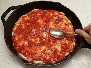 Тесто для пиццы без замеса - фото шаг 5