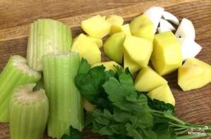 Суп-пюре из брокколи с сыром - фото шаг 1