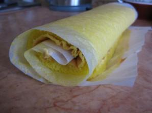Лимонный рулет из бисквитного теста - фото шаг 6