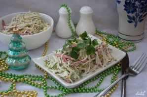 Салат с салями и сыром - фото шаг 5