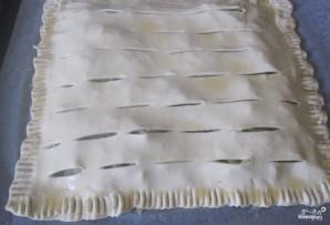 Слоеное бездрожжевое тесто с капустой - фото шаг 6