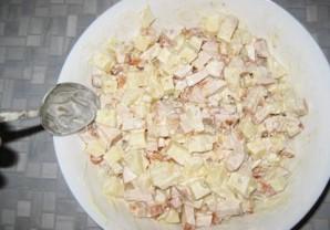 "Салат с копченой курочкой ""Аппетит"" - фото шаг 7"