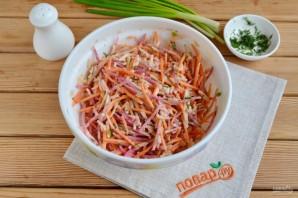 Салат с зеленой редькой и морковью - фото шаг 6