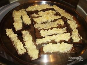 Гренки из черного хлеба с сыром - фото шаг 8