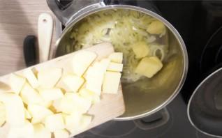 Чесночный суп в хлебе - фото шаг 2