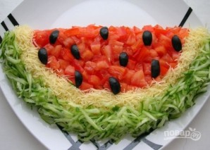 "Салат ""Долька арбуза"" - фото шаг 6"