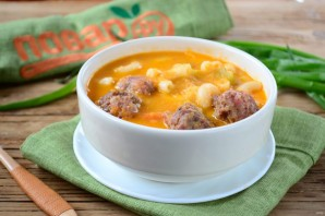 Густой томатный суп с фрикадельками - фото шаг 11