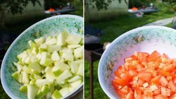 Гусь кусочками с яблоками - фото шаг 9