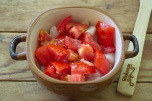 Грудка с помидорами и сыром - фото шаг 4
