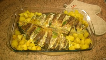 Рыба со сметаной - фото шаг 5