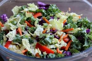 Салат с лососем - фото шаг 3