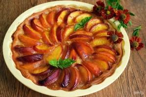 Персиковый пирог на слоеном тесте - фото шаг 4