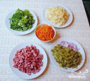 Салат с колбасой - фото шаг 4