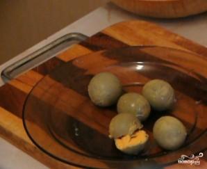 Салат с печенью и солеными огурцами - фото шаг 4