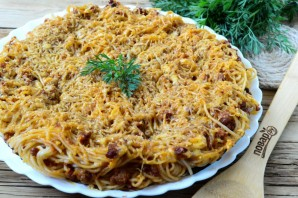 """Пирог из спагетти """"Болоньезе"""" - фото шаг 8"""