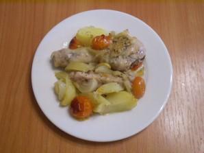 Курица в духовке с овощами и картофелем - фото шаг 6