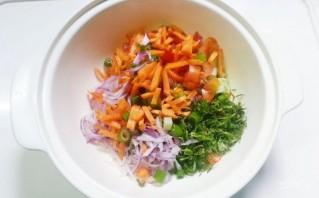 Салат из курицы с шампиньонами - фото шаг 4