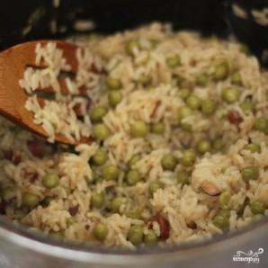 Рис с зеленым горошком и миндалем - фото шаг 6