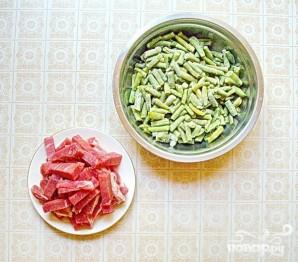 Свинина с карри и стручковой фасолью - фото шаг 1