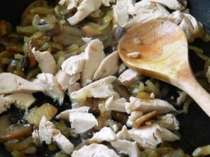 Паста с курицей и грибами в сливочном соусе - фото шаг 3