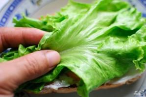 Сэндвич с колбасой - фото шаг 4
