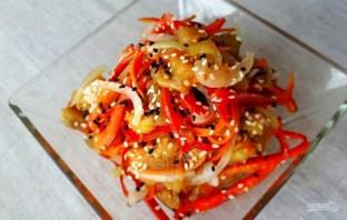 Баклажаны по-корейски с овощами без обжарки - фото шаг 3