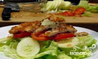 Куриный салат с сырным соусом - фото шаг 5